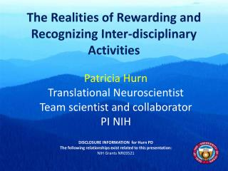 The Realities of Rewarding and Recognizing Inter-disciplinary Activities