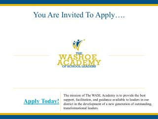 You Are Invited To Apply….