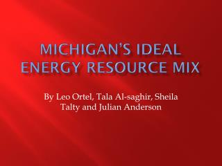 Michigan's Ideal Energy resource mix