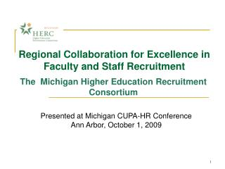 Regional Collaboration for Excellence in Faculty and Staff Recruitment