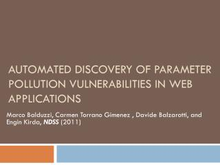 Automated Discovery of Parameter Pollution Vulnerabilities in Web Applications