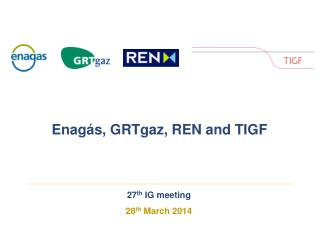27 th I G  meeting 28 th  March 2014