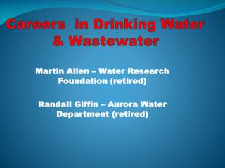 Careers  in Drinking Water & Wastewater