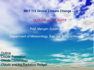 MET 112 Global Climate Change -