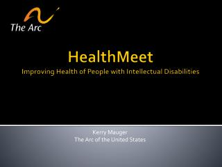 HealthMeet Improving Health of People with Intellectual Disabilities