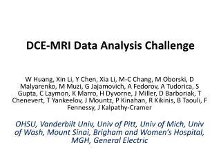DCE-MRI Data Analysis Challenge