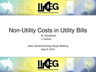 Non-Utility Costs in Utility Bills