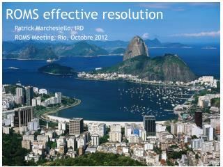 ROMS effective resolution