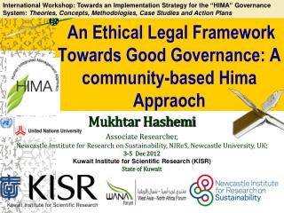 An Ethical Legal Framework Towards Good Governance: A community-based  Hima Appraoch
