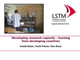 Developing  research capacity – learning from developing  countries