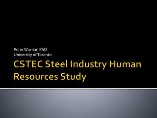 CSTEC Steel Industry Human Resources Study