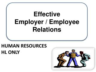 Human Resources  HL Only
