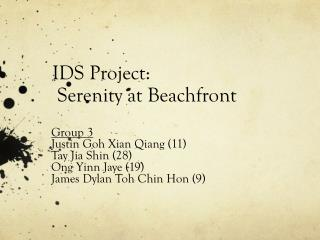 IDS Project: Serenity at Beachfront
