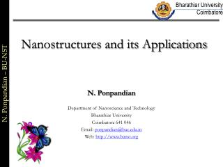 Nanostructures and its Applications