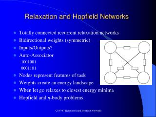 Relaxation and Hopfield Networks
