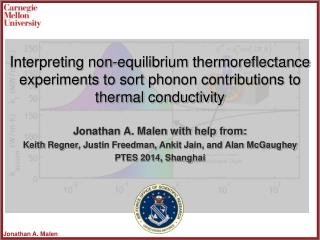 Interpreting non-equilibrium  thermoreflectance  experiments to sort phonon contributions to thermal conductivity