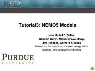 Tutorial3: NEMO5 Models