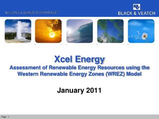 Xcel Energy Assessment of Renewable Energy Resources using the Western Renewable Energy Zones (WREZ) Model