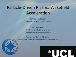 Particle-Driven Plasma Wakefield Acceleration