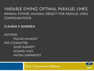 Ph.D. Dissertation Defense