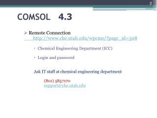 COMSOL 4.3