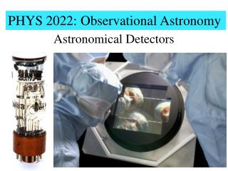 PHYS 2022: Observational Astronomy