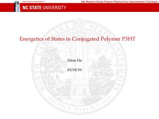 Energetics  of States in Conjugated Polymer P3HT
