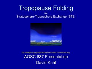 Tropopause Folding and Stratosphere-Troposphere Exchange (STE)