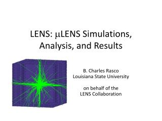 LENS:  m LENS Simulations, Analysis, and Results