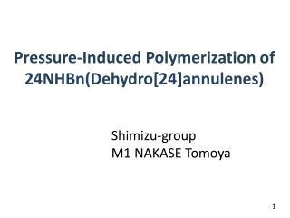 Pressure-Induced Polymerization of 24NHBn( Dehydro [24] annulenes )