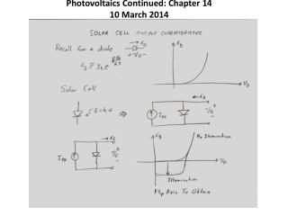Photovoltaics  Continued: Chapter 14 10 March 2014