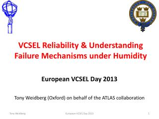 VCSEL Reliability & Understanding Failure Mechanisms under Humidity