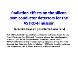 Radiation effects on the silicon semiconductor detectors for the ASTRO-H mission