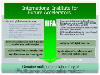 Particle accelerator and Advanced accelerator technologies