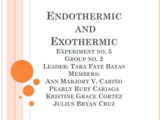 Endothermic And Exothermic Reaction