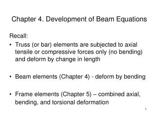 Chapter 4. Development of Beam Equations