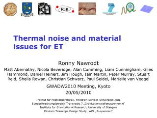 Thermal noise and material issues for ET