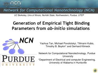 Generation of Empirical Tight Binding Parameters from  ab -initio  simulations