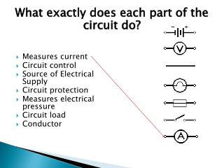 What exactly does each part of the circuit do?