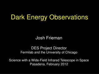 Dark Energy  Observations