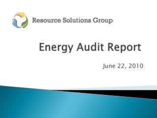 Energy Audit Report
