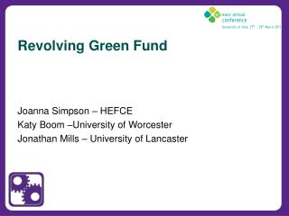 Revolving Green Fund