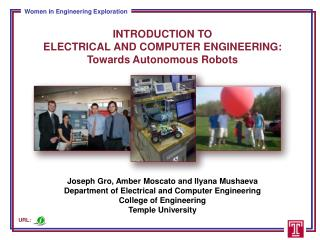 Introduction to Electrical and Computer Engineering: Towards Autonomous Robots
