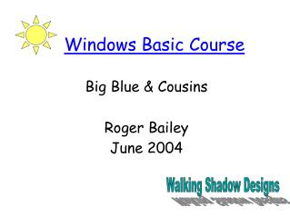 Windows Basic Course
