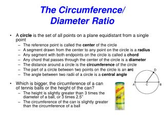 The Circumference/ Diameter Ratio