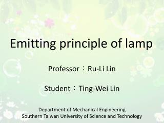 Emitting  principle  of lamp