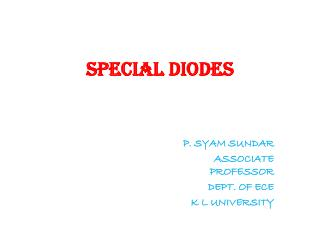 SPECIAL DIODES