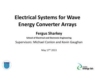 Electrical Systems for Wave Energy Converter Arrays