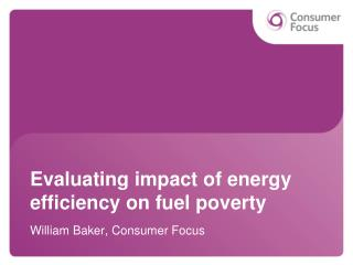 Evaluating impact of energy efficiency on fuel poverty