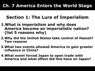 the lure of imperialism